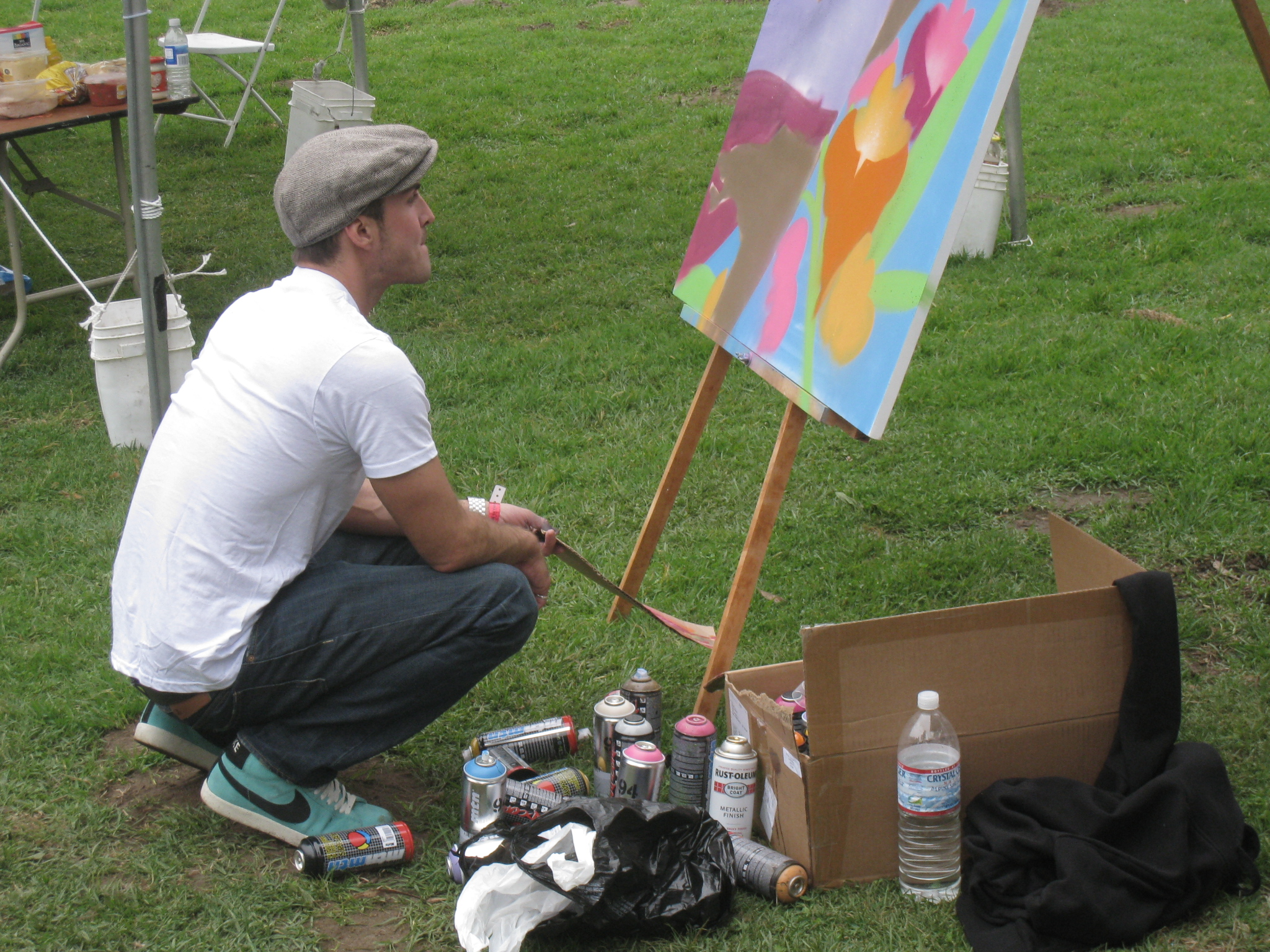 img 9546 Sam Flores, recap: live painting in Golden Gate Park upper playground Sam Flores power to the peaceful paint live painting graffiti fifty24sf gallery art