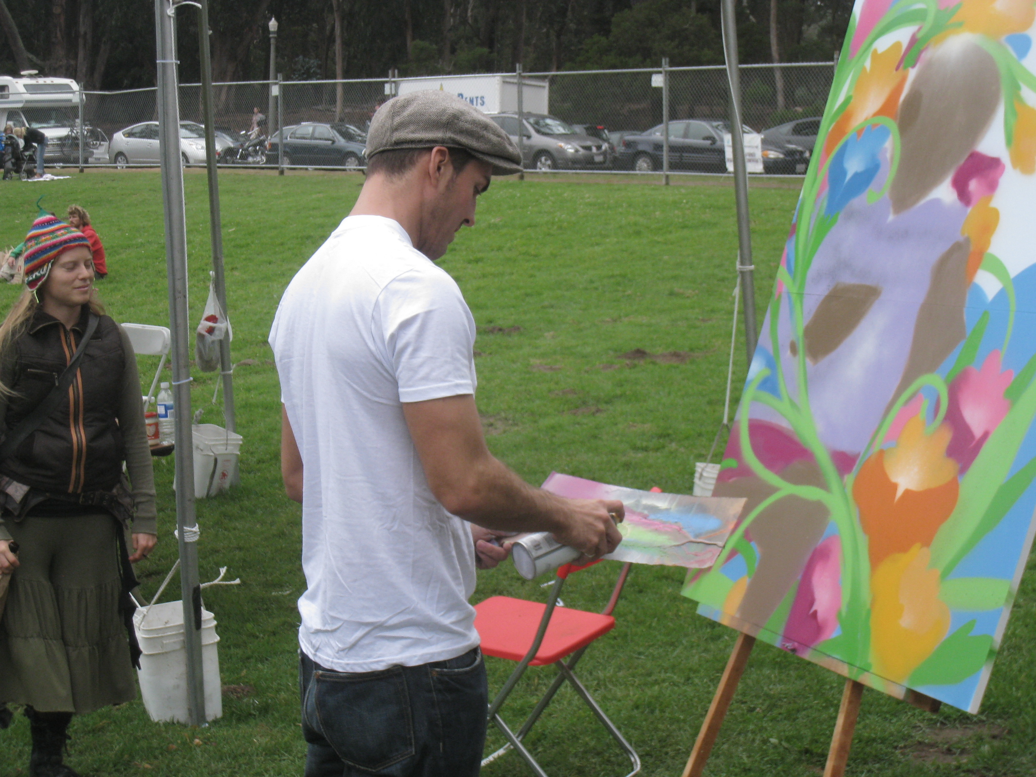 img 9556 Sam Flores, recap: live painting in Golden Gate Park upper playground Sam Flores power to the peaceful paint live painting graffiti fifty24sf gallery art