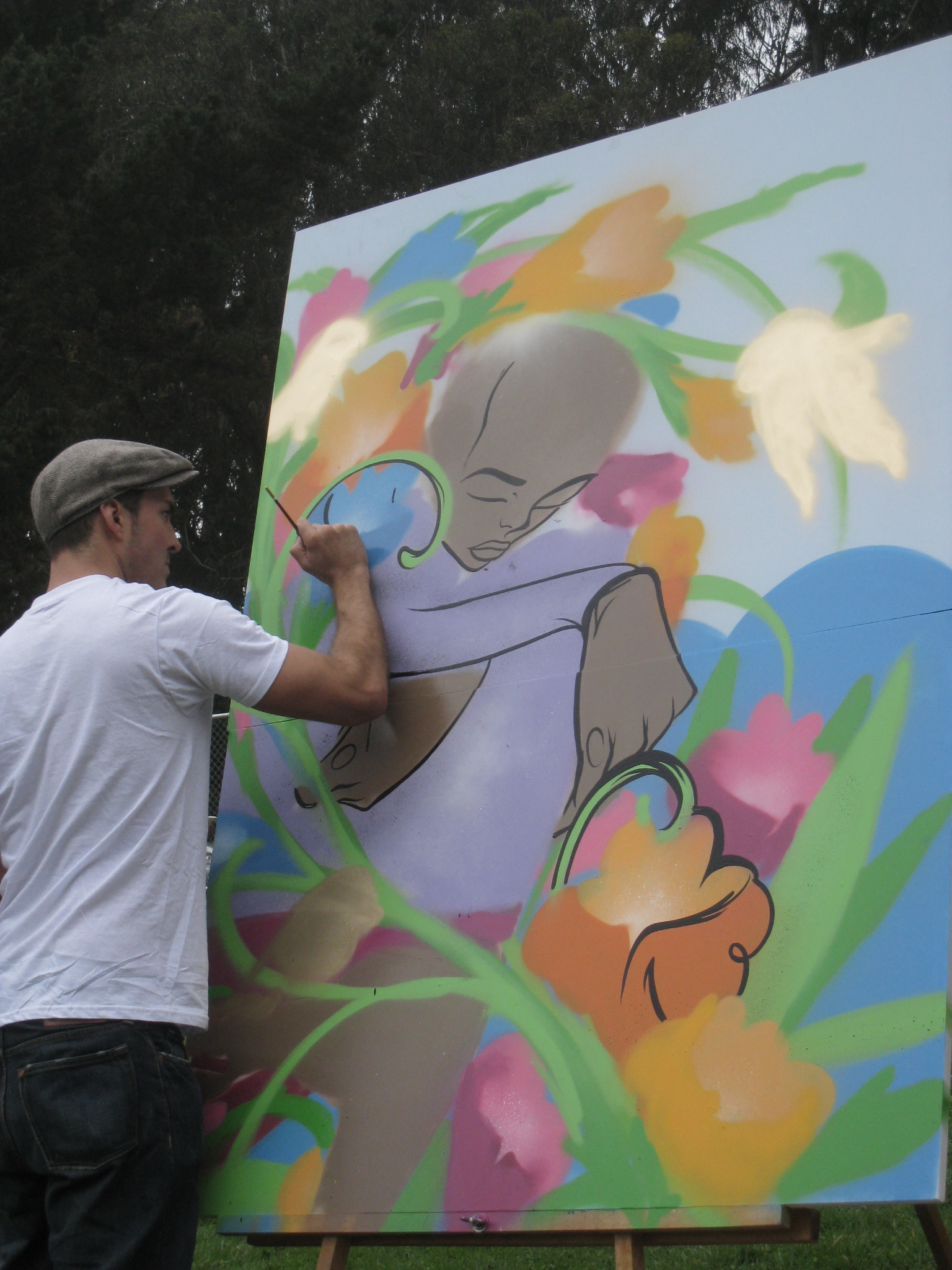 img 9561 Sam Flores, recap: live painting in Golden Gate Park upper playground Sam Flores power to the peaceful paint live painting graffiti fifty24sf gallery art