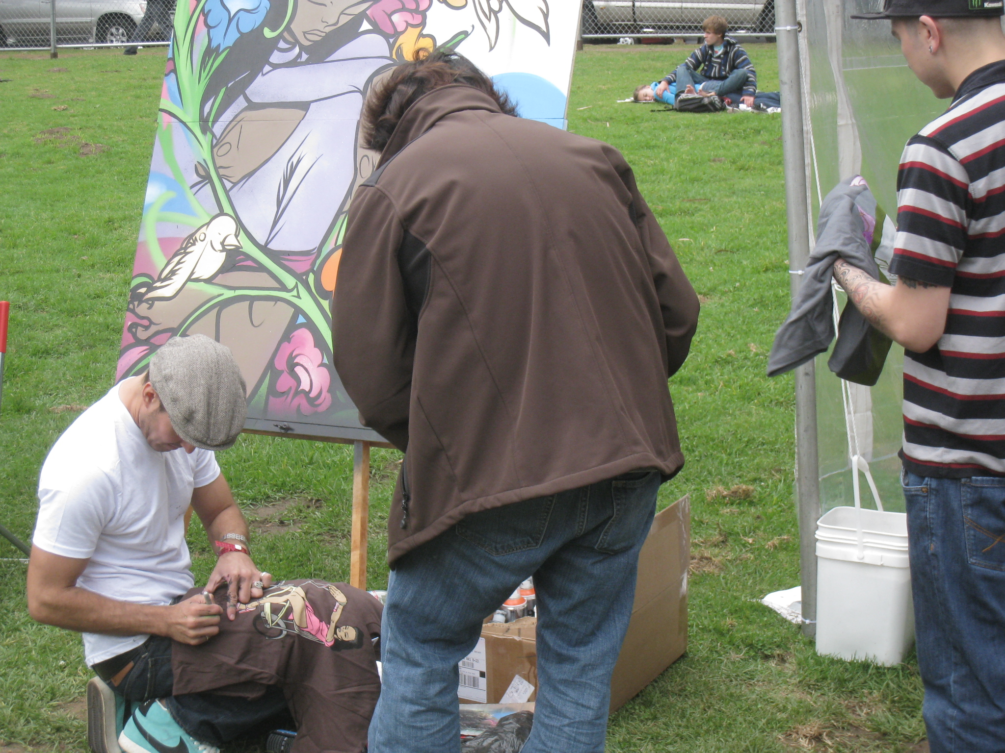 img 9579 Sam Flores, recap: live painting in Golden Gate Park upper playground Sam Flores power to the peaceful paint live painting graffiti fifty24sf gallery art