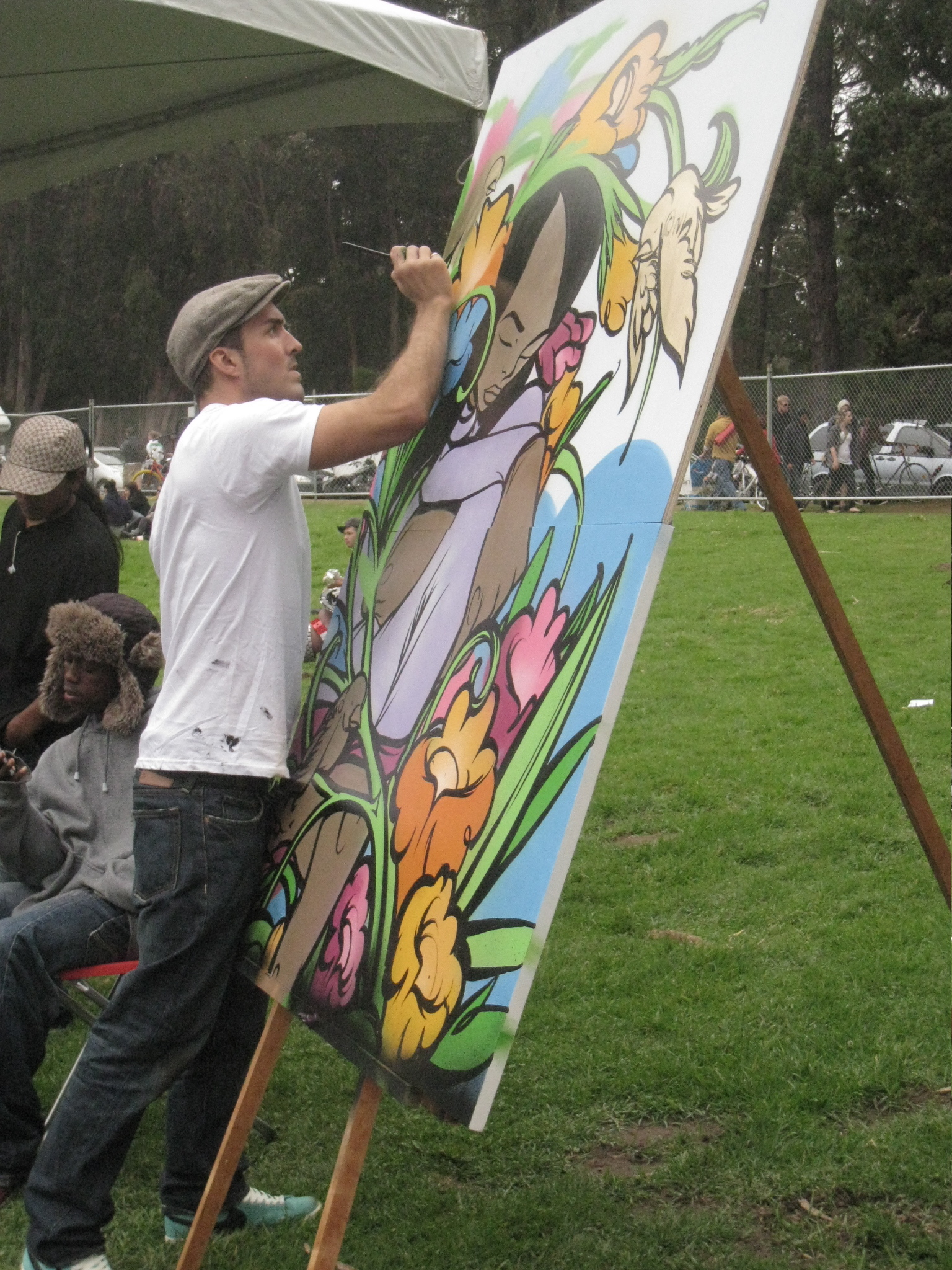 img 9599 Sam Flores, recap: live painting in Golden Gate Park upper playground Sam Flores power to the peaceful paint live painting graffiti fifty24sf gallery art
